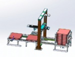 Al-frame 3-axis Palletizer for light weight cases